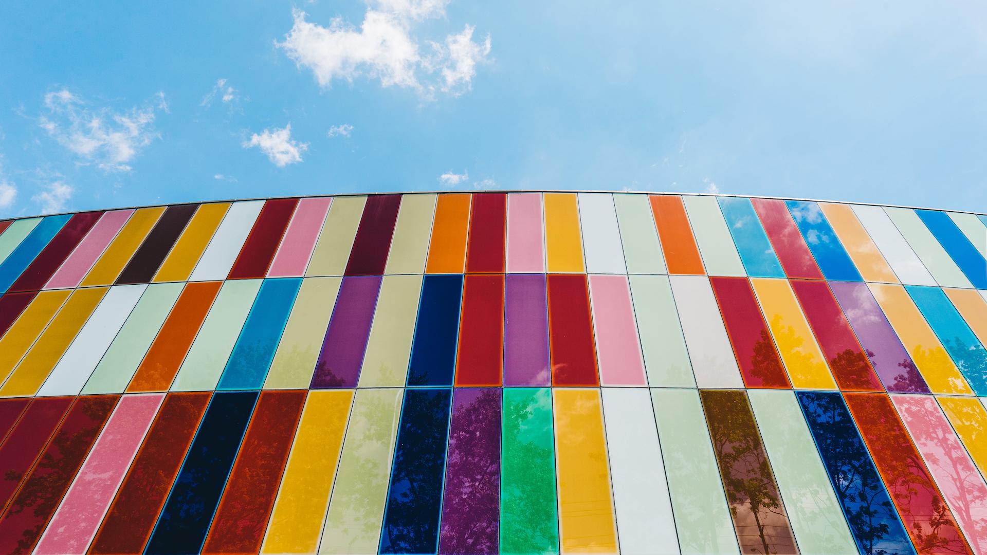 Picture of multicoloured window glass